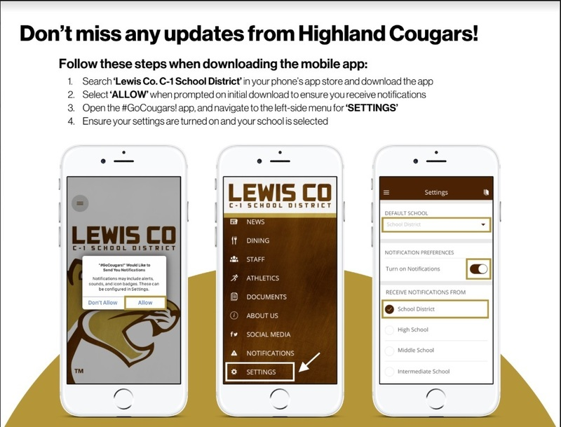 Sign-up to receive Highland updates by completing these simple steps!