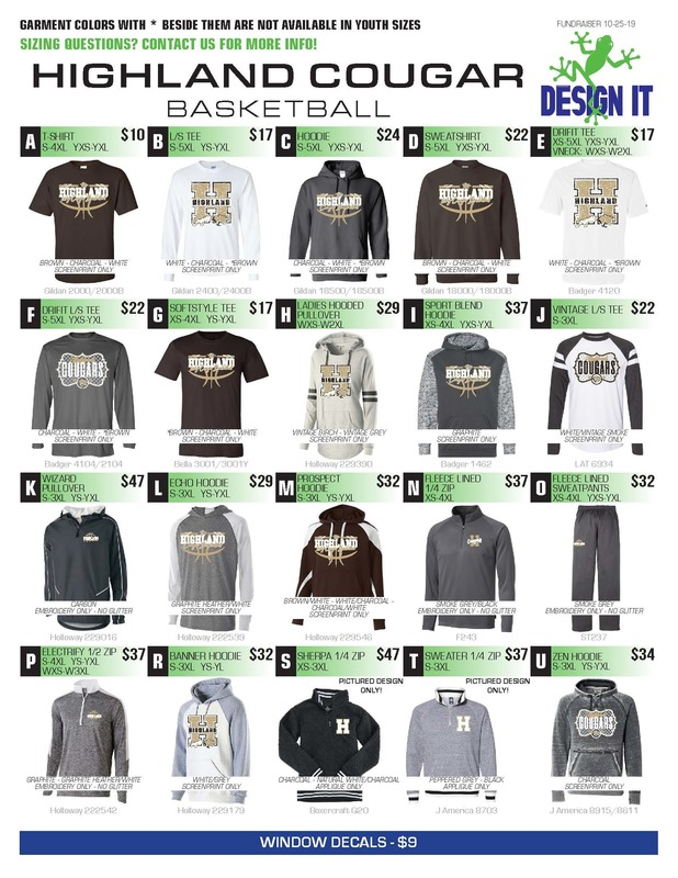 Order your Highland Basketball gear!